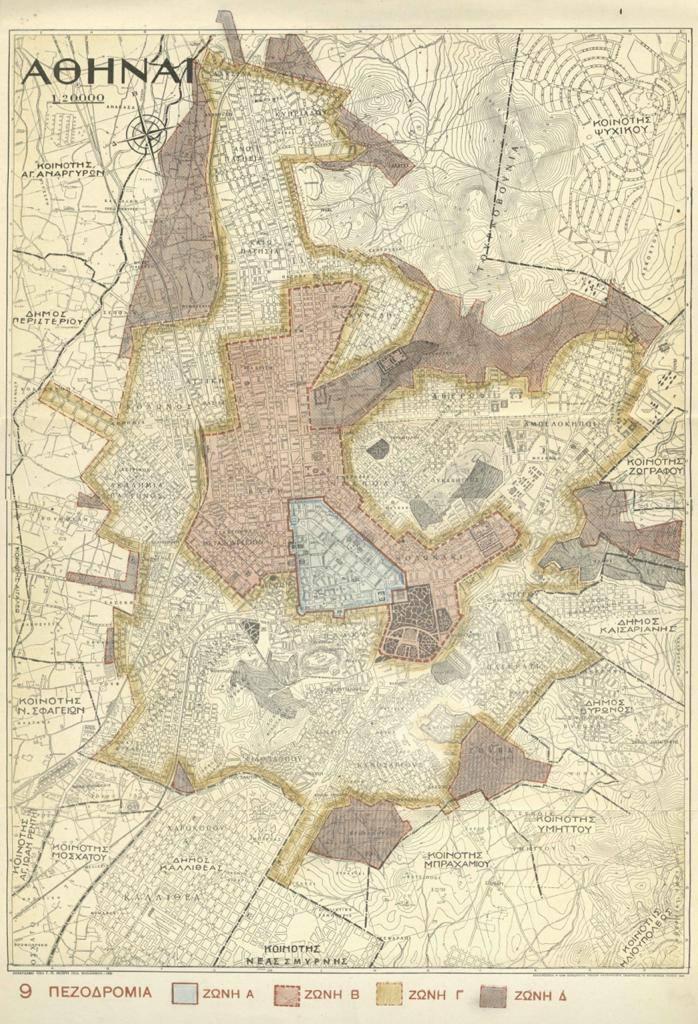 Χάρτης της Αθήνας